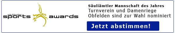 Säuliämtler Sports Award: Wir sind nominiert!