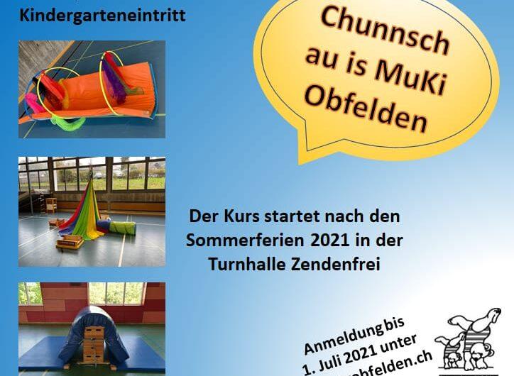 Muki-Turnen: ab Sommer 21  gibt es freie Plätze